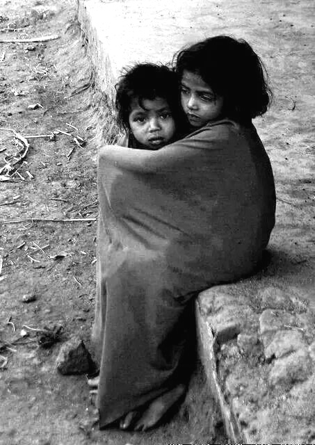 photo of two homeless street children