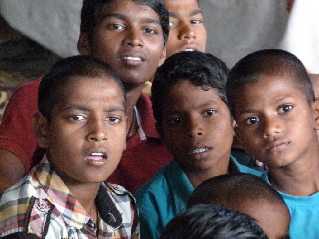 Pcicture of some boys watching the play