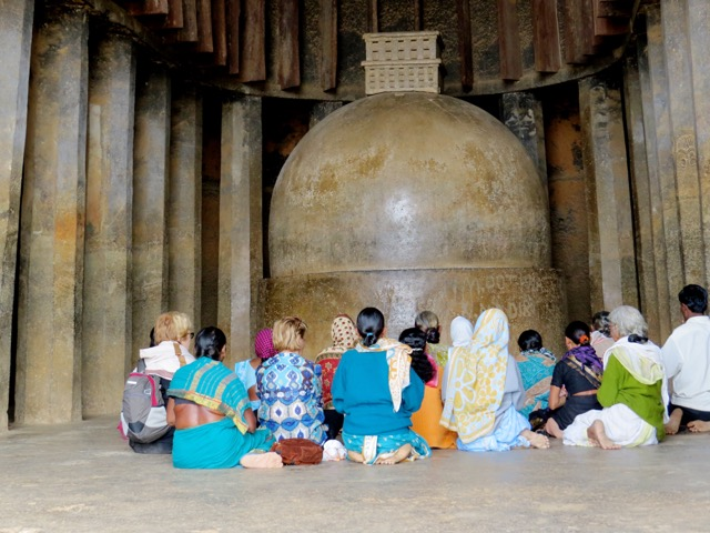 Ladies at bhaja caves
